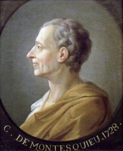 啓蒙主義を法的に発展させたモンテスキュー