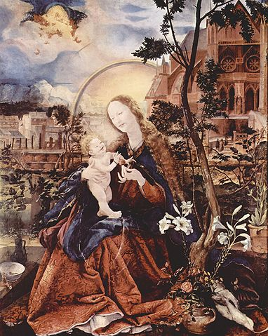グリューネヴァルト作 聖母とイエス