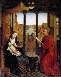 ファン・デル・ウェイデン作 聖母を描く聖ルカ