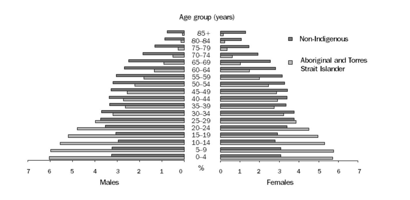 アボリジニの人口(年齢別)