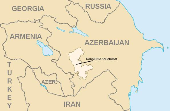 ナゴルノ・カラバフ自治州の位置