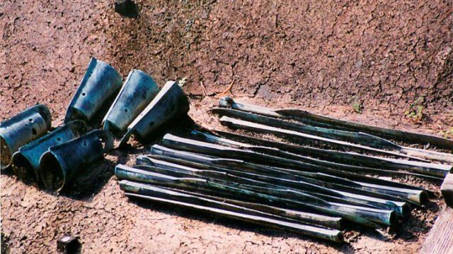 荒神谷遺跡の青銅器出土状況