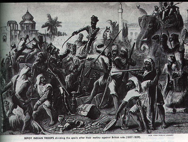 インド大反乱の1つ、セポイの反乱
