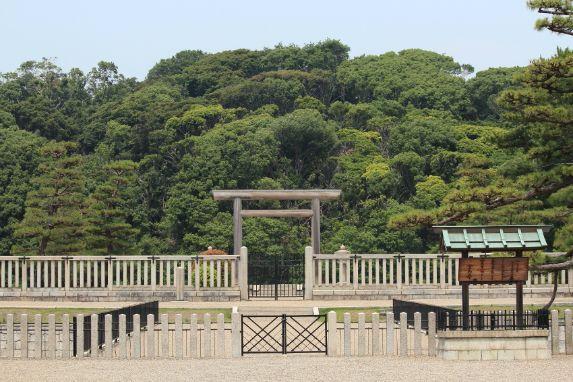 百舌鳥古墳群に所在する日本最大の前方後円墳である大仙陵古墳