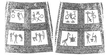 銅鐸に描かれた絵図の拓影