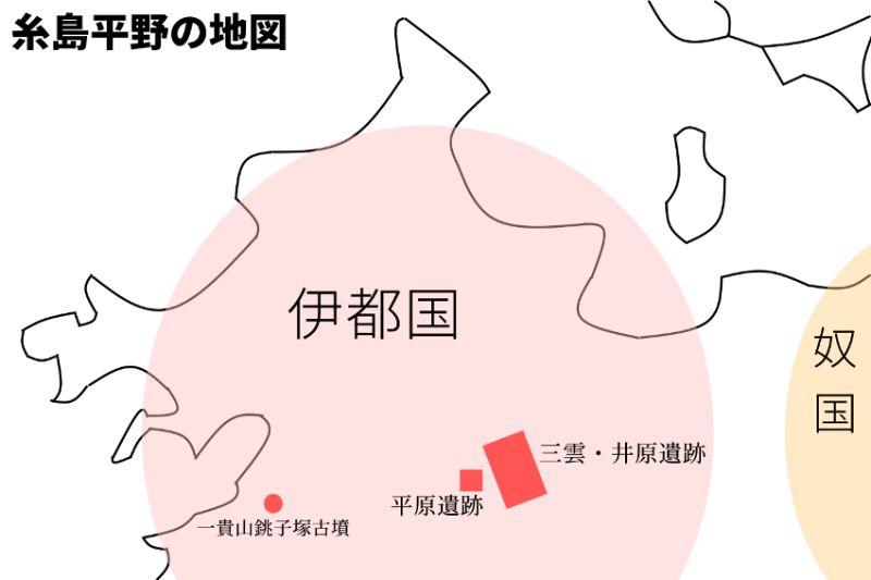 伊都平野の地図