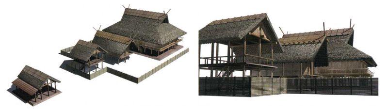 大型建物復元(桜井市教育委員会『纏向考古学通信』Vol.2, p.5より引用)