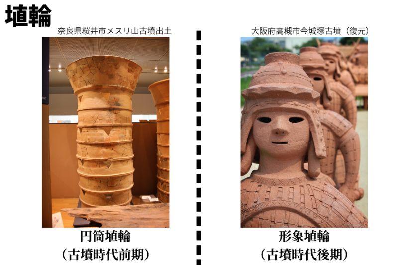 円筒埴輪と形象埴輪
