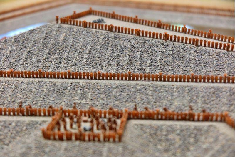 大仙陵古墳に並べられた埴輪